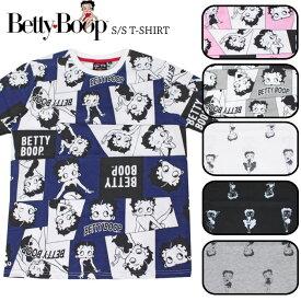 全品P5倍&最大88%OFFセール【1点までゆうパケット可能】ベティブープ プリント 総柄プリント 半袖Tシャツ Betty Boop ベティちゃん アメカジ メンズ レディース キャラT SPBT-12243 YPC