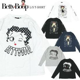 ベティブープ プリント 長袖Tシャツ Betty Boop ベティちゃん アメカジ メンズ レディース キャラT SPBT-93245 TC