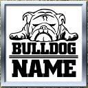 【NEW】ブルドッグネームステッカーカッティングステッカー プレゼントにも最適、名入れができる車・犬・雑貨・シールドッグステッカーカーステッカーオーナーグッズ