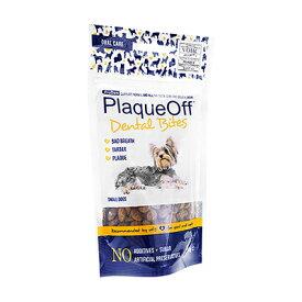 【楽天海外直送:日時指定不可】プロデン・プラークオフデンタルバイツ(子犬用)60g 1袋 Plaque Off Dental Bites for Small Dogsペット用オーラルケア:国際郵便書留発送
