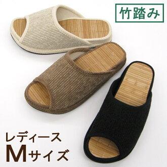 D-阿尔马登购物中心竹跺着脚拖鞋妇女 M 大小竹材料健康夏天拖鞋