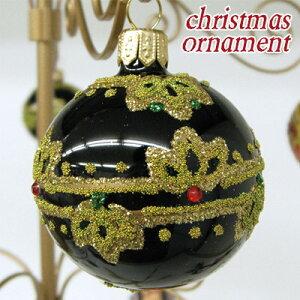 クリスマス オーナメント ボール ブラックポーランド ハンドメイドクリスマス飾り