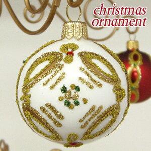 クリスマス オーナメント ボール ホワイトポーランド ハンドメイドクリスマス飾り