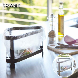 Triangular corner tower 2 colors | Think Gomi box Dish drainer basket