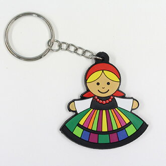 키체인 폴란드 소녀 POLSKA 고무 링 동유럽 잡화 가방 매력에
