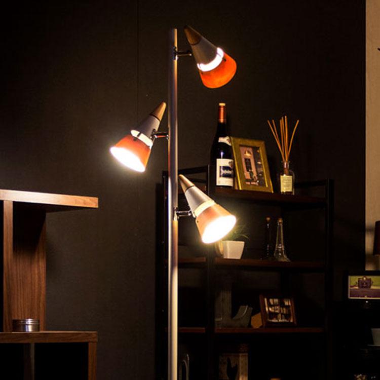 【送料無料】間接照明 寝室 おしゃれ リモコン付き フロアライト ビークフロア・リモート[BEAK FLOOR REMOTE]BBF-029r ボーベル|スタンドライト フロアスタンド 照明器具 リビング用 居間用 ライト スポットライト スタンド LED アッパーライト 3灯