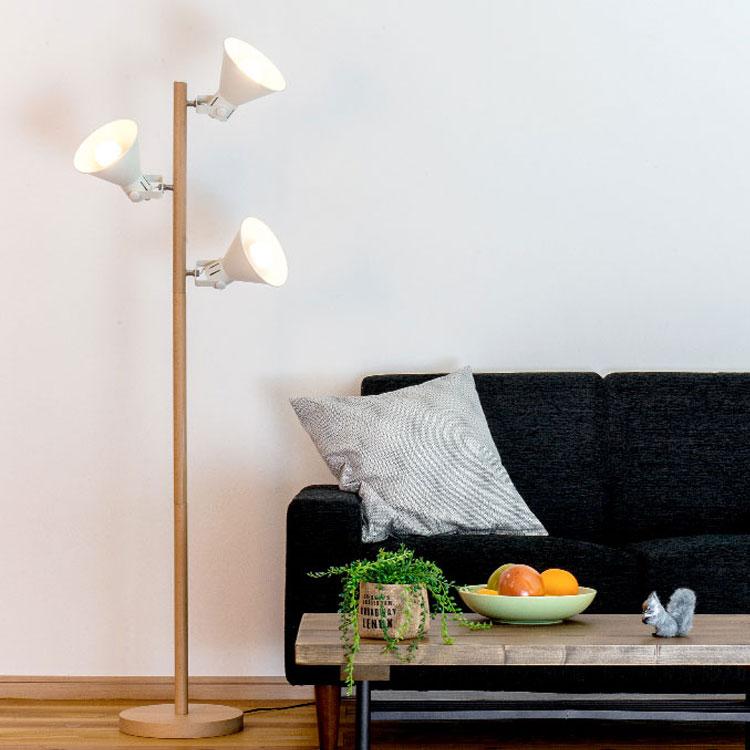 【送料無料】間接照明 寝室 おしゃれ フロアライト アロンザフロア[ALONZA FLOOR]BBF-032 ボーベル|スタンドライト フロアランプ フロアスタンド 照明器具 北欧 リビング用 居間用 スポットライト LED 電気 アッパーライト 3灯 スポット