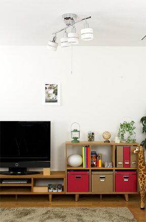 シーリングライトリモコン付き4灯レダリモート[LedaRemote]|スマホ操作対応照明器具スポットライト天井照明間接照明木製おしゃれダイニング用食卓用リビング用居間用寝室6畳8畳インテリアライトLED調光調色シーリング木枠スポット電気子供部屋