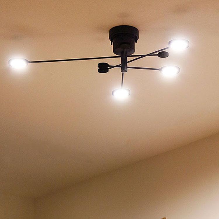 【送料無料】LED シーリングライト アーク[ARC]BBS-046|天井照明 照明器具 led キッチン 北欧 モダン かわいい リビング用 居間用 ダイニング用 食卓用 ライト 電気 おしゃれ シーリング 4灯 寝室 子供部屋 インテリア リビングライト