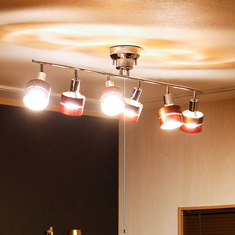 【送料無料】シーリングライト 6灯 LED対応のおしゃれな照明 レダ シックス[Leda Six]ボーベル|おしゃれ 12畳用 スポットライト 天井照明 間接照明 和室 北欧 リビング用 居間用 照明器具 電気 シーリング 寝室 ベッドルーム スポット ライト