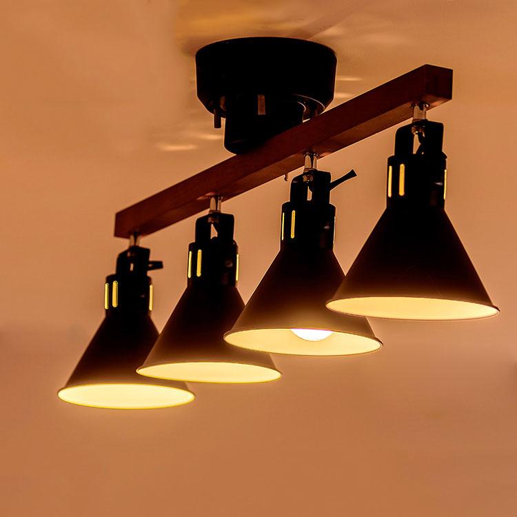【送料無料】シーリングライト LED・スポットライト 4灯 アロンザ[ALONZA]ボーベル |間接照明 ダイニング用 食卓用 リビング用 居間用 6畳 8畳 和室 おしゃれ 北欧 天井照明 照明器具 電気 寝室 ルームライト シーリング スポット 電球追加でリモコン付き
