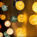 コットンボールランプ クッカ kukka【インテリア ガーランド LEDライト 間接照明 かわいい おしゃれ 壁 雑貨 飾り オ…