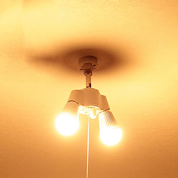 2灯 シンプルソケット BBA-003|照明 照明器具 天井照明 LED電球 シーリングライト ソケット プルスイッチ シンプル おしゃれ ランプ 電気 玄関 内玄関 トイレ 廊下 クローゼット 階段 シーリング ルームライト ペンダントライト 寝室 工作 led e26
