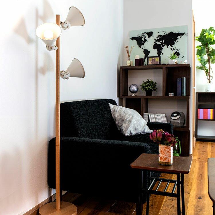 【送料無料】間接照明 寝室 おしゃれ フロアライト アロンザフロア[ALONZA FLOOR]BBF-032 ボーベル|スタンドライト フロアランプ フロアスタンド 照明器具 北欧 リビング用 居間用 スポットライト LED 電気 アッパーライト 3灯 グレードアップでリモコン付き