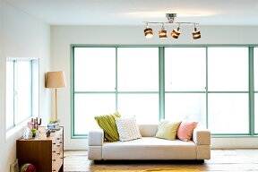 シーリングライトLED対応スポットライト4灯天井照明照明器具和室和風ウッド北欧ペンダントライト寝室リビング用居間用ダイニング用食卓用送料無料インテリアライト電気おしゃれシーリングスポットレダ[Leda]|