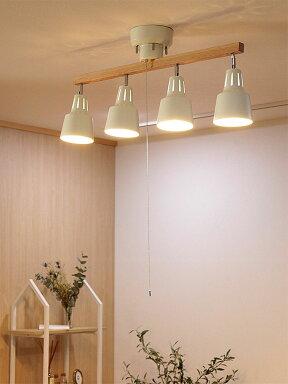 【送料無料】シーリングライトLED対応スポットライト4灯ライトリー[LIGHTLY]ボーベル[beaubelle]|ダイニング用食卓用リビング用居間用おしゃれ北欧天井照明照明器具寝室シーリング間接照明電気スポットライトグレードアップでリモコン付