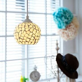 ペンダントライト1灯ビードロ[Vidlo]BBP-054ボーベル|天井照明ledモザイクガラスステンドグラスアジアン北欧デザインアンティークかわいいおしゃれ一人暮らしダイニング用食卓用インテリア照明器具電気ライト内玄関トイレギフト子供部屋キッチン