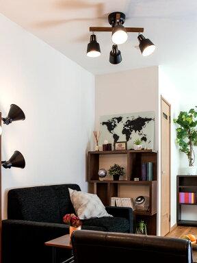 リモコン付きシーリングライトLED・スポットライト4灯ライトリー・カイ[LIGHTLYX]|ダイニング用食卓用リビング用居間用6畳8畳おしゃれ天井照明照明器具寝室照明間接照明シーリングスポットライト子供部屋