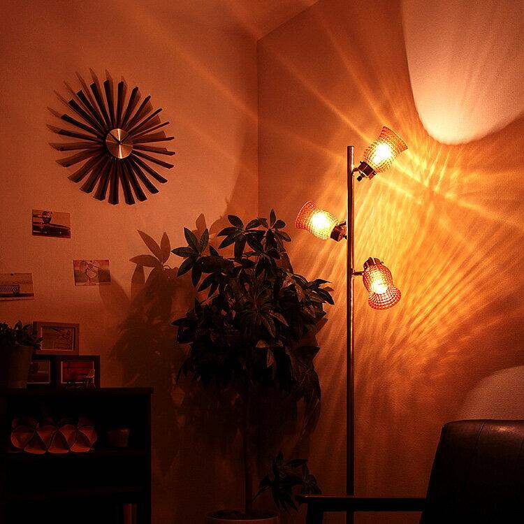 【送料無料】フロアライト 3灯 ラーレ[Lare]BBF-013 ボーベル[BeauBelle]フロアランプ フロアスタンド スタンドライト 間接照明 北欧 アンティーク 寝室 おしゃれ インテリア| led スポットライト スポット 照明器具 リビング用 居間用