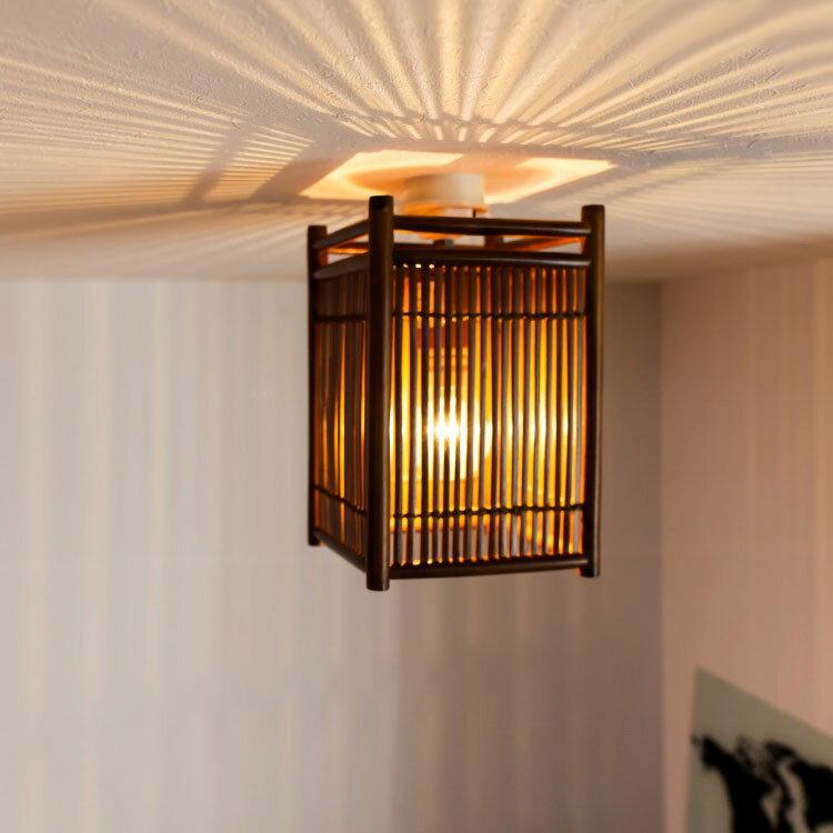 シーリングライト 1灯 小型シーリングライト GEM-6910 キシマ KISHIMA|インテリア 間接照明 E26 led 竹 レトロ 和 和風 おしゃれ インテリア 照明器具 天井照明 ライト 電気 内玄関 廊下 トイレ 寝室 和室 リビング用 居間用