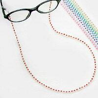 【プレゼントにおすすめ】老眼鏡に便利☆メガネチェーン【スワロフスキー】【メール便OK】【RCP】