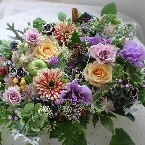 母の日 花 ギフト プレゼント 誕生日20女性 季節の花でおまかせ アレンジメント 入学祝い 昇進祝い 歓送迎会 開店 オープン 結婚記念日 お祝い フラワー お見舞い カラフル フラワーケーキ b-