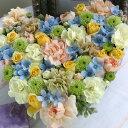 誕生日 結婚記念日 お見舞い 開店 ビジネス 開業 改築 新築 お祝い など季節のお花を使ったフラワーケーキアレンジ !! Pure Heart(L…