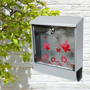 【あす楽】郵便ポスト郵便受けおしゃれかわいい人気メールボックス 壁掛け シルバー色 ポストpm100