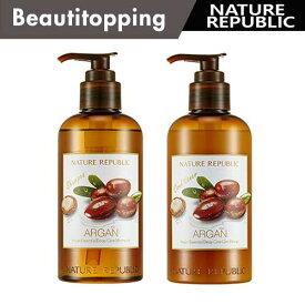 【NATURE REPUBLIC】ネイチャーリパブリック ARGAN Essential Deep Care Shampoo Conditioner アルガン エッセンシャル ディープ ケア シャンプー コンディショナー 名300ml 選択2タイプ 韓国コスメ