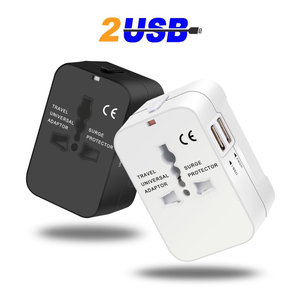 【1年間保証付】海外旅行充電器 変換プラグ コンパクト コンセント 2USBポート 電源プラグ 旅行アダプター イギリス アメリカ 交換充電器