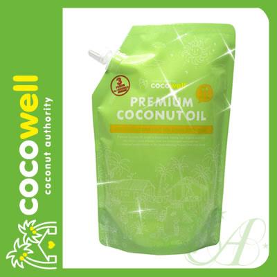 cocowell ココウェル プレミアムココナッツオイル 460g 食品【6480円以上で送料無料】