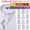 ワイシャツ 大きいサイズ 3l 4l 5l 6l 7l 8l 大きい 白 おしゃれ メンズ 長袖 ビジネスシャツ 白シャツ カッターシャ…