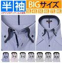 ワイシャツ 半袖 大きいサイズ おしゃれ 半袖ワイシャツ 3l 4l 5l 6l 7l 8l カッターシャツ 大きい ボタンダウン スト…
