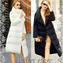 アシンメトリーロング丈ダウンコート アウター ダウン コート ダウンジャケット ロングコート レディース フォーマル 服装 大人 上品フォーマル お呼ばれ ホワイト ブラック 20代30代40代50代