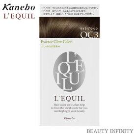 【 8/20 ポイント5倍 楽天カードで 】カネボウ kanebo リクイール L'EQUIL エッセンスグローカラー OC3 ライトブラウン / ヘアカラー おすすめ 人気 女性 白髪染め 色