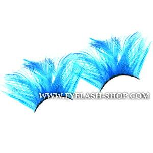 羽つけまつげ,羽根つけま,フェザーアイラッシュ,つけまつ毛 ETY-507 (スカイブルー)