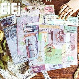 海外大きめシールシート 背景用 レトロデザインペーパー コラージュ ジャンクジャーナル ヴィンテージ 素材 素材紙 素材ペーパー レトロ アンティーク ラッピング 背景紙 人物 植物 動物 海外 画報