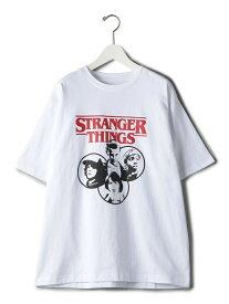【別注】【WEB限定】 <STRANGER THINGS> TEE EC/Tシャツ BEAUTY & YOUTH UNITED ARROWS ビューティ&ユース ユナイテッドアローズ カットソー Tシャツ レッド ネイビー【送料無料】[Rakuten Fashion]