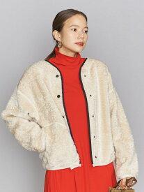 [Rakuten Fashion]BYパイピングボアブルゾン BEAUTY & YOUTH UNITED ARROWS ビューティ&ユース ユナイテッドアローズ コート/ジャケット ブルゾン ホワイト ブラウン【送料無料】