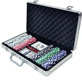 iimono117 ポーカーセット チップ300枚 アルミケース入り 本格派 カジノゲーム ポーカー テーブルゲーム 大人用 ゲーム ホームパーテ