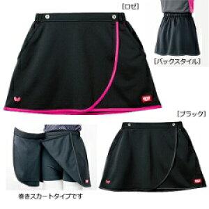 【バタフライ】 ビフィニック・スカート&スパッツ 卓球ウェア [カラー:ブラック] [サイズ:M] #51819-278 【スポーツ・アウトドア:卓球:ウェア:レディースウェア:ハーフパンツ・ショートパン