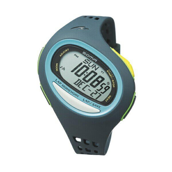 【ソーマ】 RUN ONE 100SL(ランワン100SL) ラージ ランニングウォッチ [カラー:ネイビー×オキシブルー] #NS08005 【スポーツ・アウトドア:アウトドア:精密機器類:ウォッチ】