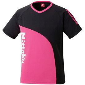 【ニッタク】 カールTシャツ 卓球ウェア [カラー:ピンク] [サイズ:O] #NX-2078-21 【スポーツ・アウトドア:卓球:ウェア:メンズウェア:シャツ】