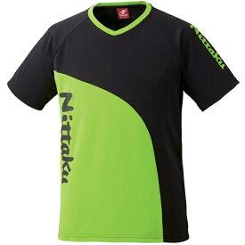 【ニッタク】 カールTシャツ 卓球ウェア [カラー:グリーン] [サイズ:L] #NX-2078-40 【スポーツ・アウトドア:卓球:ウェア:メンズウェア:シャツ】