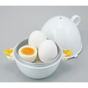 【曙産業】 レンジでらくチン ゆで卵 3個用 【キッチン用品:調理用具・器具:料理別調理グッズ一覧:ゆで卵・温泉卵作りアイテム】【レンジでらくチン】