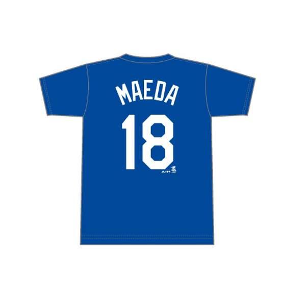 【エスエスケイ】 MLB ロサンゼルスドジャース 前田健太(#18) ネーム&ナンバーTシャツ [サイズ:L(日本サイズ)] #MM08LDG001518 【スポーツ・アウトドア:その他雑貨】