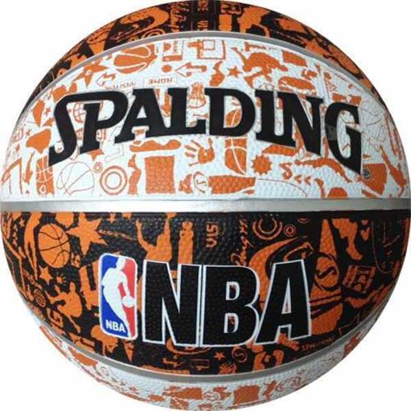 【スポルディング】 GRAFFITI(グラフィティ) バスケットボール 5号球 [カラー:ホワイト×ブラック×オレンジ] #83-360J 【スポーツ・アウトドア:スポーツ・アウトドア雑貨】