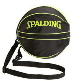 【スポルディング】 バスケットボールバッグ(1個入れ) [カラー:ライムグリーン] [サイズ:直径約27cm] #49-001LG 【スポーツ・アウトドア:その他雑貨】