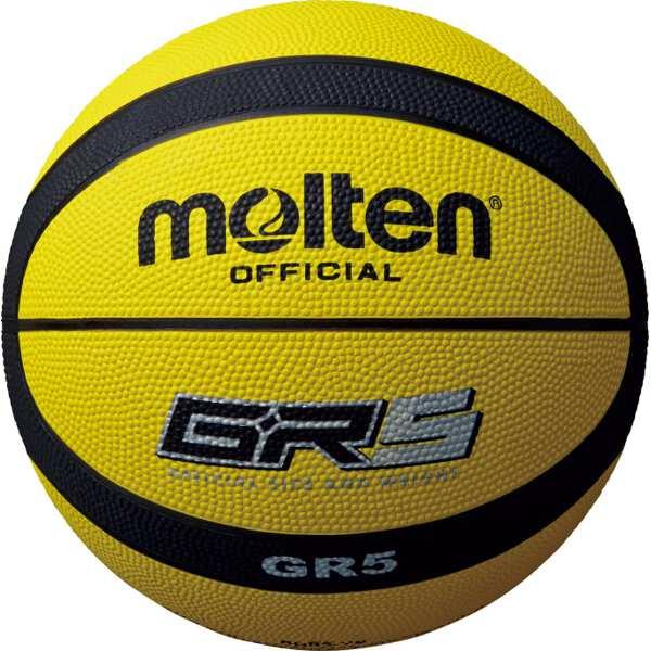 【モルテン】 バスケットボール 5号球 GR5 [カラー:イエロー×ブラック] #BGR5YK 【スポーツ・アウトドア:スポーツ・アウトドア雑貨】