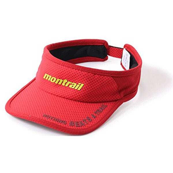 【モントレイル】 NOTHING BEATS A TRAIL ランニングバイザ— [カラー:ブライトレッド] #XU3981-691 【スポーツ・アウトドア:ジョギング・マラソン:ウエア】